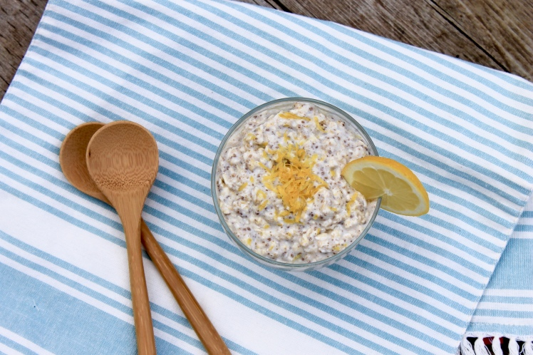 Easy breakfast, overnight oats, lemon oats, simple breakfast, fast breakfast