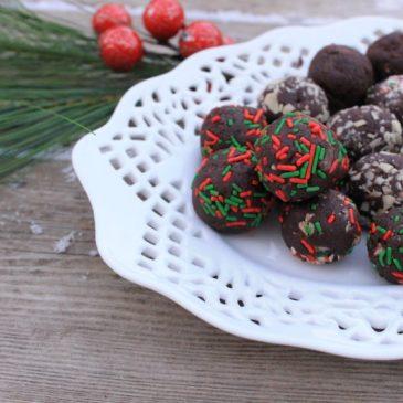 chocolate peppermint truffles
