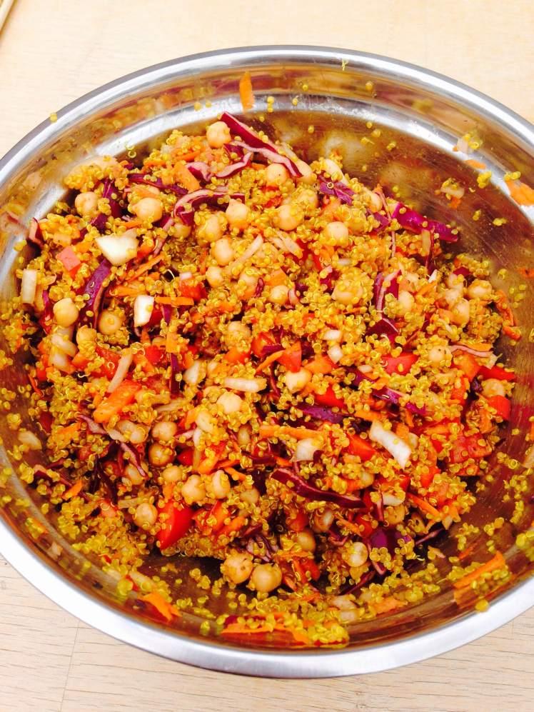Moroccan quinoa salad 4