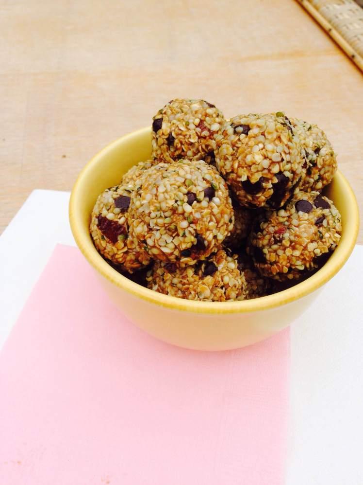 sunflower oatmeal truffles 1
